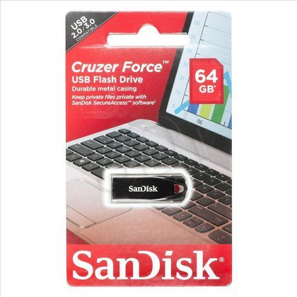 Sandisk Flashdrive CRUZER FORCE 64GB USB 2.0 Srebrny