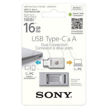 Sony Flashdrive USM-CA1 16GB USB 3.1 srebrny