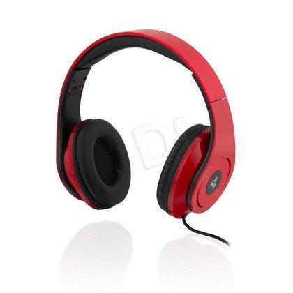 Słuchawki nauszne Ibox D13 (Czerwono-czarny)