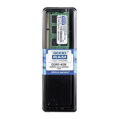 GOODRAM SO-DIMM DDR3 4096MB PC1600 CL11 256x8 1,35V