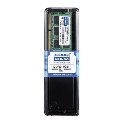 GOODRAM SO-DIMM DDR3 4096MB PC1600 CL11 256x8 1,35V