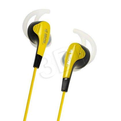Słuchawki douszne z mikrofonem I-Box S2 Sport (żółto-czarny)