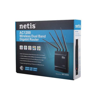 NETIS ROUTER WIFI AC1200 DSL DUAL BAND + 1GB LAN + 4X ANTENA + 1X USB