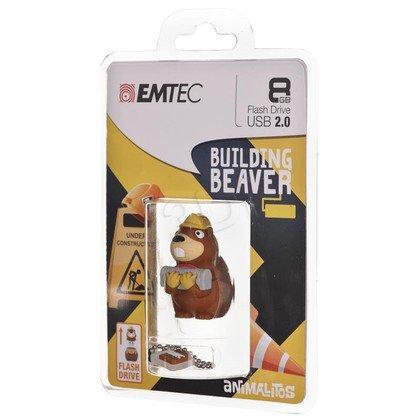 Emtec Flashdrive M338 8GB USB 2.0 FUNNY BUILDING BEAVER