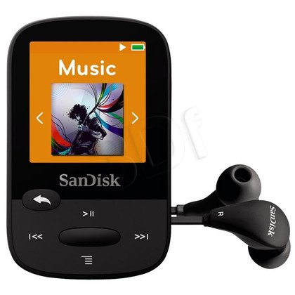 SANDISK MP3 SANSA CLIP SPORTS 4GB CZARNA