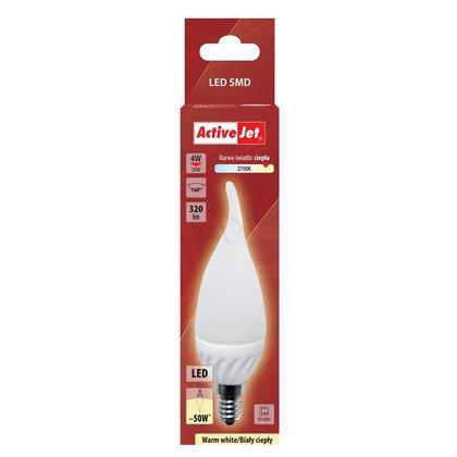 ActiveJet AJE-DS3014CF-W Lampa LED SMD płomyk 320lm 4W E14 barwa biała ciepła