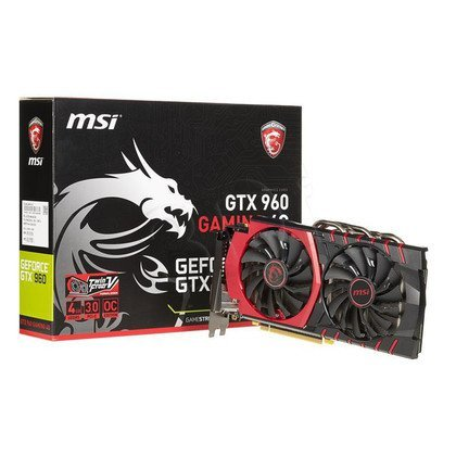 MSI GeForce GTX 960 4096MB DDR5/128bit DVI/HDMI/DP PCI-E (1304/7010) (wer. OC - Gaming)