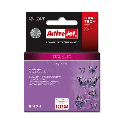 ActiveJet AB-123MR tusz magenta do drukarki Brother (zamiennik Brother LC123M) Premium