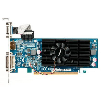 GIGABYTE GeForce 210 1024MB DDR3/64bit DVI/HDMI PCI-E (590/1200)