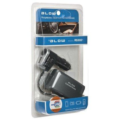 Rozg.Zapal.samoch.1xWT/3xGN+USB+kabel
