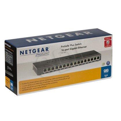NETGEAR GS116E-100EUS 16-port Gigabit Plus Switch