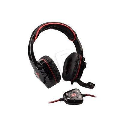 Słuchawki nauszne z mikrofonem Natec GENESIS HX66 USB VIRTUAL 7.1 (Czarno-czerwony)