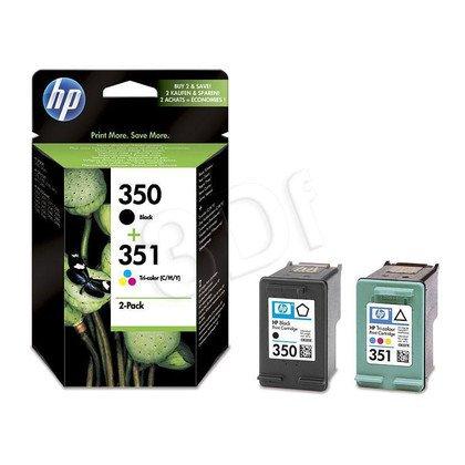 HP Tusz HP350+HP351=SD412EE, Zestaw Bk+Kolor, CB335EE+CB337EE