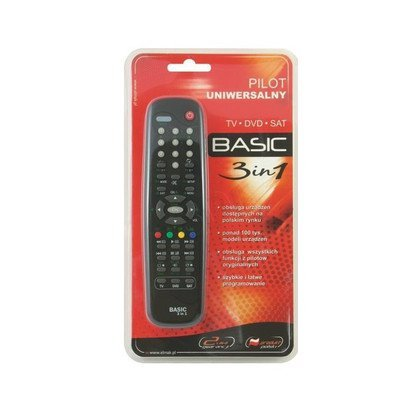 Pilot Uniwersalny Elmak Basic 3W1 (Odtwarzacze DVD,TV,Dekodery TV cyfrowej...)