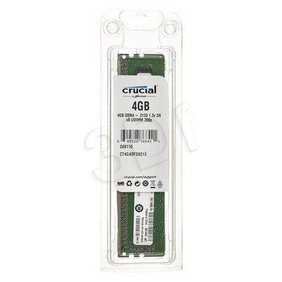 Crucial DDR4 UDIMM 4GB 2133MT/s (1x4GB) CT4G4DFS8213