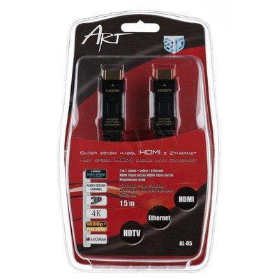 KABEL HDMI ART. 1.4 HQ 1.5m AL-05