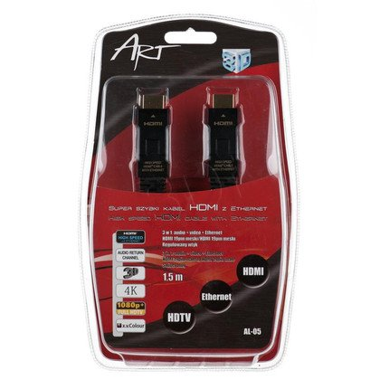 KABEL HDMI ART. 1.4 HQ 1.5m AL-05