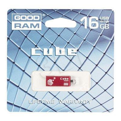 Goodram Flashdrive CUBE 16GB USB 2.0 Czerwony