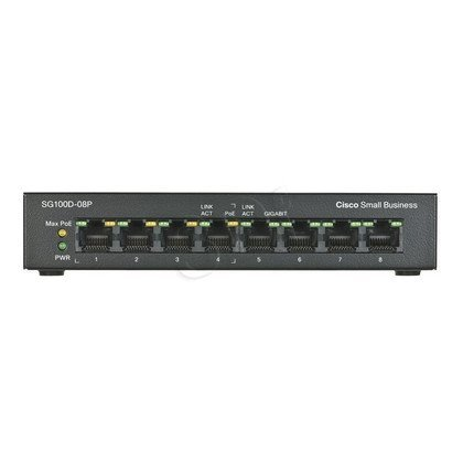 CISCO SG100D-08P-EU 8x10/100/100 Desktop Switch