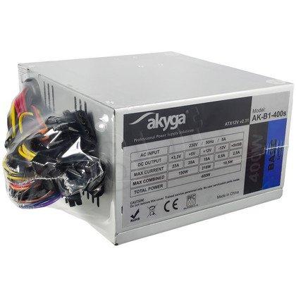 AKYGA ZASILACZ BASIC ATX 400W P4 FAN8CM 2XSATA 2xMOLEX