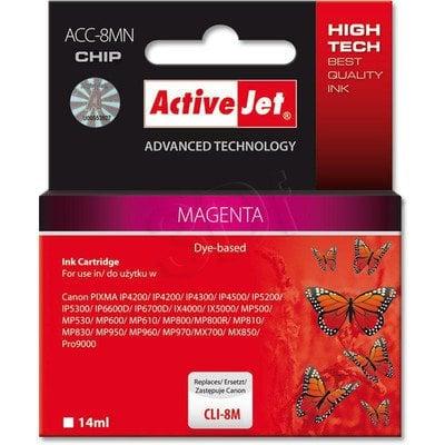 ActiveJet ACC-8M (ACC-8MN) tusz magenta do drukarki Canon (zam. CLI-8M) (CHIP)