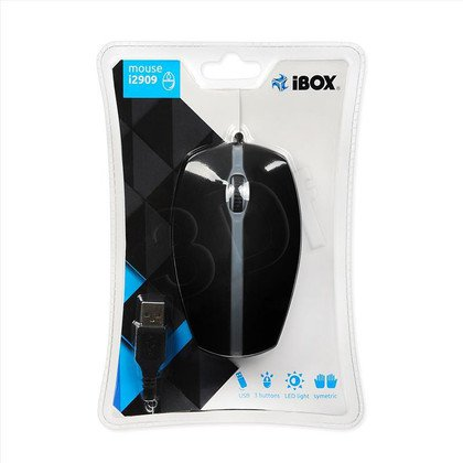 MYSZ I-BOX i2909 OPTYCZNA PRZEWODOWA USB BLACK LED