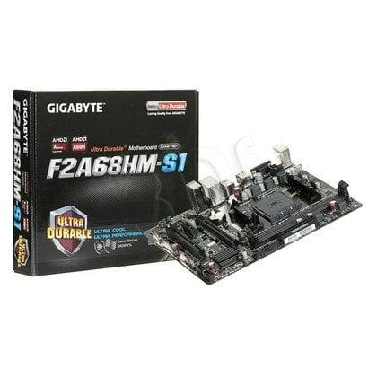 GIGABYTE GA-F2A68HM-S1 A68H SFM2+ (PCX/DZW/GLAN/SATA3/USB3/RAID/DDR3/CROSSFIRE) mATX