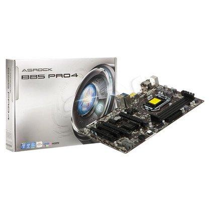 ASROCK B85 Pro4 Intel B85 LGA 1150 (2xPCX/VGA/DZW/GLAN/SATA3/USB3/DDR3/CROSSFIRE)