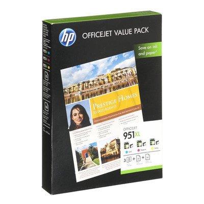 HP Tusz HP951XL=CR712AE, Zestaw CMY, CN046AE+CN047AE+CN048AE+papier 75 ark. A4, 210x297mm, 180g