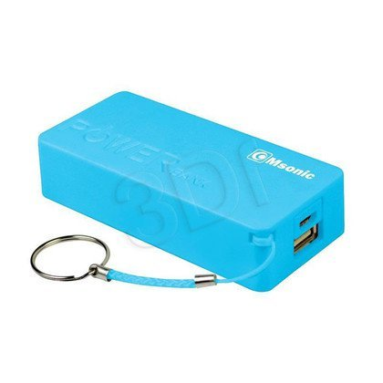 MSONIC POWER BANK 5000MAH, LI-ION MY2580B NIEBIESKI