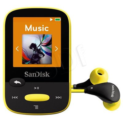 SANDISK MP3 SANSA CLIP SPORTS 8GB ŻÓŁTA