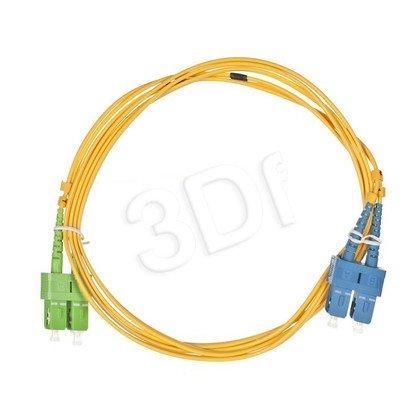 ALANTEC patchcord światłowodowy SM LSOH 2m SC/APC-SC duplex 9/125 żółty