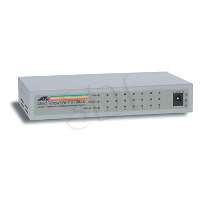 Allied Telesis Unmanaged (AT-FS708LE) 8x10/100Mbps Desktop Switch, zew. zasilacz