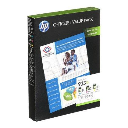 HP Tusz HP933XL=CR711AE, Zestaw CMY, CN054AE+CN055AE+CN056AE+papier 75 ark. A4, 210x297mm, 180g