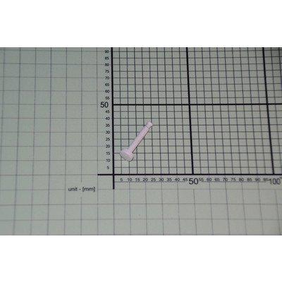 Przycisk wypukły 27,4mm biały (8006459)