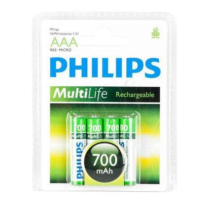 Akumulator Philips R03B4A70/10 AAA 700mAh 4 szt.