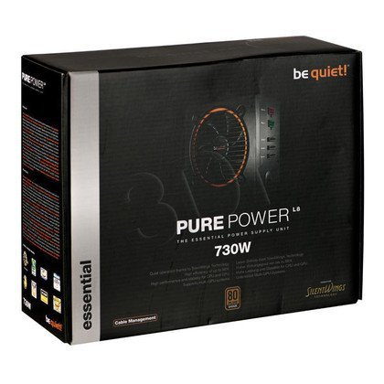BE QUIET! PURE POWER L8 730W CM (BN183) MODULARNY - 80+ BRONZE
