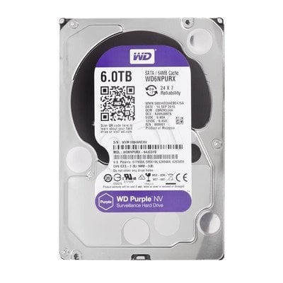 "Dysk HDD Western Digital WD PURPLE NV 3,5"" 6000GB SATA III 64MB"