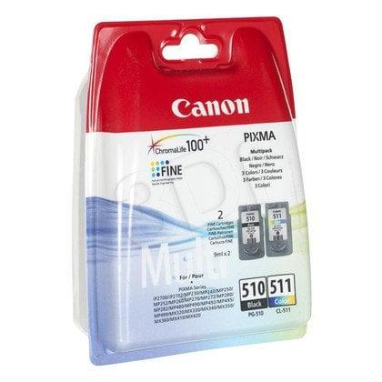 CANON Tusz PG-510/CL-511=PG510/CL511=2970B010, Zestaw Bk+Kolor, PG-510+CL-511