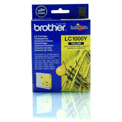 BROTHER Tusz Żółty LC1000Y=LC-1000Y, 400 str.