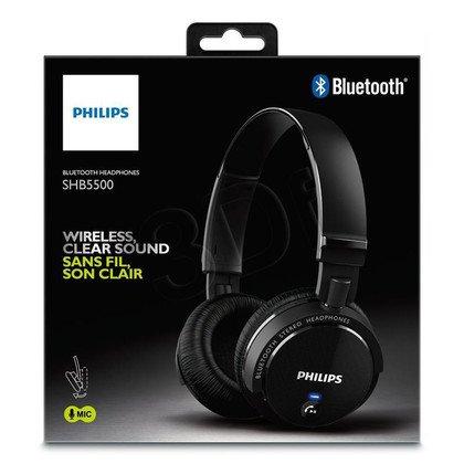 Słuchawki nauszne z mikrofonem Philips SHB5500BK/00 (Czarny Bluetooth)