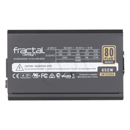 FRACTAL DESIGN INTEGRA M 650W MODULARNY 80+ BRONZE