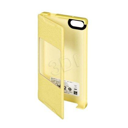 Sony Etui do telefonu Style Cover Window SCR44 Z5 Compact żółty