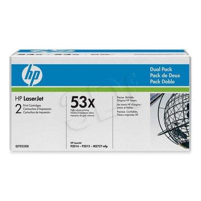HP Toner HP53Xx2=Q7553XD, Zestaw 2xBk, 2xQ7553X