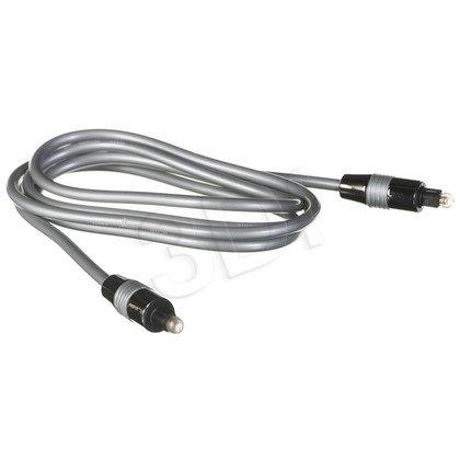 Blow kabel optyczny 1,5m toslink/ toslink 5mm szary