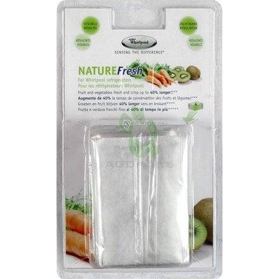 Półki na plastikowe i druciane r Saszetki Nature Fresh do lodówki 4szt. Whirlpool (480181700845)