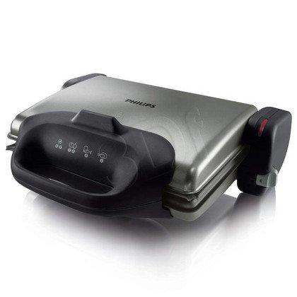 Grill elektryczny Philips HD 4467/90 (2000W stołowy-zamykany, czarno-stalowy)
