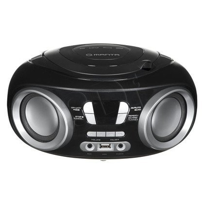 Boombox Manta Hippo MM209N CD Czarno-szary