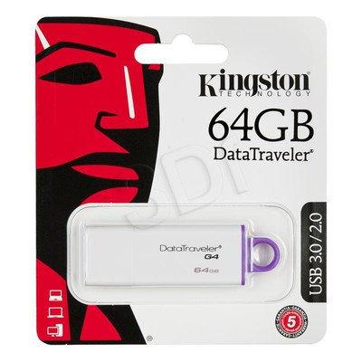 Kingston Flashdrive DataTraveler G4 64GB USB 3.0 Biało-fioletowy
