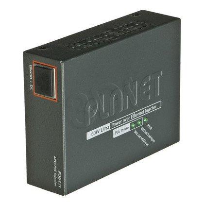 PLANET POE-171 mieszacz 1-port Ultra PoE 60W